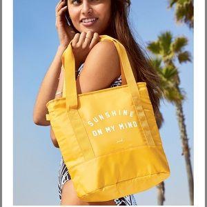 Handbags - Victoria secret yellow cooler tote nwt